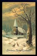 Sretna Nova Godina / Amag 1946 / Postcard Circulated, 2 Scans - Nouvel An