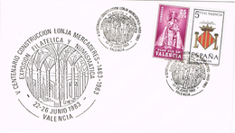 23738. Carta Exposicion VALENCIA 1983. Lonja Mercaderes. Plan Sur - 1931-Hoy: 2ª República - ... Juan Carlos I