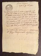 GOVERNO PONTIFICIO S.AGATA 29/9/1820 MANOSCRITTO IN CARTA BOLLATA BAJ UNO E MEZZO CON FIRME AUTOGRAFE - Manoscritti