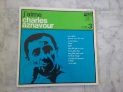 J'AIME CHARLES AZNAVOUR VOL 3 RARE LP DE 196? VARIANTE.REORCHESTRATION DES CHANSONS LANGUETTE - Andere - Franstalig