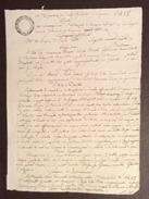 LOMBARDO VENETO BASSANO 30/6/1828 MANOSCRITTO IN CARTA BOLLATA CENT.30  CON TIMBRO E FIRMA AUTOGRAFA - Manoscritti