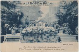 EXPOSITION INTERNATIONALE DE MONTPELLIER 1927 (34) - PRIX D'HONNEUR - OBJET D'ART - DIPLOME DE MEDAILLE D'OR - Montpellier