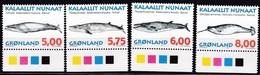 1997,  Grönland, 305/08 Y, Wale. MNH **, - Neufs