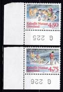 1997,  Grönland, 313/14 Y, Weihnachten, MNH **, - Groenland
