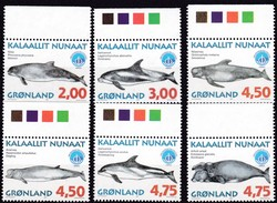 1998,  Grönland, 316/21, Wale,  MNH **, - Neufs