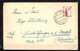 Allemagne/ZOF/Bade YT N° 44 Seul Sur Lettre. Belle Oblitération. B/TB. A Saisir!