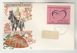 1971 Exeter GB POSTAL STRIKE COVER  2/- EXETER EMERGENCY DELIVERY SERVICE VALENTINES Label Great Britain - Cinderellas