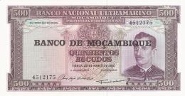 MOZAMBIQUE   500 Escudos   ND (1976 - Old Date 22/3/1967)   P. 118a   UNC - Mozambique