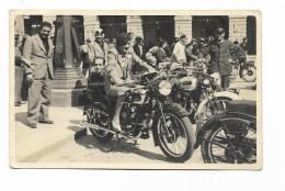RADUNO MOTO - BMV- SAURUS E ALTRE  ANNI 40/50  SU CARTOLINA FOTOGRAFICA   NV FP - Motorräder