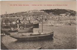 CETTE / SETE (34) - INTERIEUR DU PORT - VUE GENERALE DE LA MONTAGNE ST CLAIR - Sete (Cette)