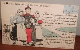 LA CARTE POSTALE DU FUSILLER DUMANET-ALLIES SATIRE CARICATURE ILLUSTRATEUR JAN METTEIX EDITEUR LACLAU TOULOUSE - Humoristiques