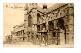 Mons - Eglise Sainte-Waudru - Vue De La Place Du Chaptre.  (1928) - Mons