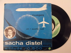 Disque Vinyle 45 Tours. Sacha Distel. Nuages. Philips B 372.662 F - Collectors