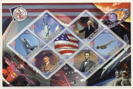 Easdale Island 2006 Statue Of Liberty, Space Shuttle, George Washington, Baden-Powell Scouts, Abraham Lincoln, Concorde