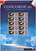 GB Smiler Sheet Concorde 001 Aircraft MNH. - Concorde