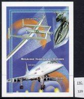 Comoro Is Comores 1999 Lockheed SR-71A Yoyager Concorde IMPERF M/s. Lollini C26BA.  MNH