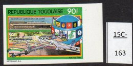 Togo 1990 Airport And Concorde 90fr IMPERF. LolliniC12A. MNH
