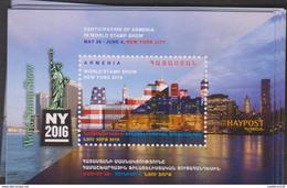 O) 2016 ARMENIA, ARCHITECTURE, WORLD STAMP SHOW - IN WORLD STAMP SHOW NEW YORK CITY, SOUVENIR MNH - Armenia