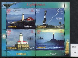 Somalia 2004 Lighthouse Concorde Perf Sheetlet/4 MNH