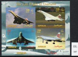 Somalia 2003 Concorde IMPERF Sheetlet/4 MNH