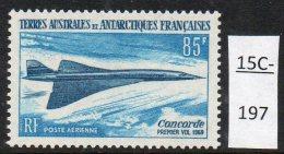 TAAF French Antarctic 1969 Concorde Lollini C1 MNH - Concorde