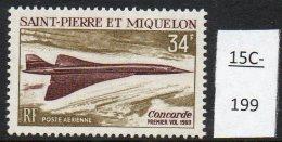 St Pierre Et Miquelon 1969 Concorde MNH