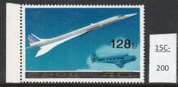 North Korea 1978 Concorde Stamp SURCHARGED 128ch – MNH And Scarce
