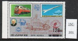North Korea 1986 Diesel Train Concorde Stamp SURCHARGED 128ch – MNH And Scarce