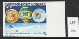 Upper Volta Haute Volta 1983 Bicentenary Manned Flight 100fr IMPERF Concorde MNH
