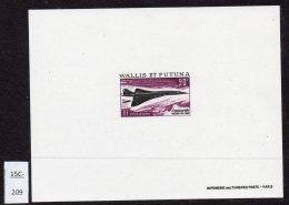 Wallis And Futuna 1969 Concorde Epreuve De Luxe - Concorde