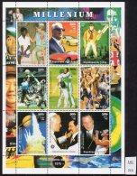 Chad Tchad 1999 Millennium Millenium Set/5 Sheets/9 Cricket Concorde Music Pope Dog Titanic Halley Ghandi Etc MNH