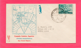 Pli ( Campana  Antartica Argentina )  (Base General Belgrano ) - Timbres