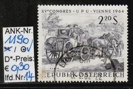 """15.6.1964  -  SM A. Satz  """"XV. Weltpostkongreß (UPU) Wien 1964  -  O  Gestempelt  -  Siehe Scan (1190o 14) - 1945-.... 2de Republiek"""