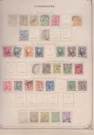 Luxembourg         .     Pagina Met Zegels   .   /      .   Page With Stamps - 1895 Adolphe Right-hand Side