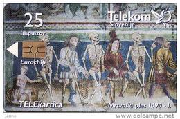 Slowenien, Chip, Toten An Der Abschlussball, Tirage 3991