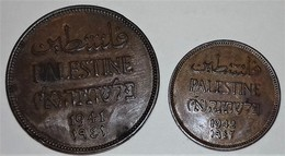 PALESTINE BRITISH ADMINISTRATION MILS CONIAGE 2 MONETE DA 1 E 2 MILS 1941 -1942 - Monete