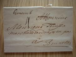 Luxemburg/Luxembourg - Lettre Avec Contenu Datée 1736 De Luxembourg-Ville à Bruxelles (Goebel AL 12a) - Luxembourg