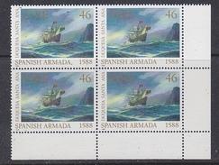 Ireland 1988 Spanish Armada 1v Bl 4 (corner)  ** Mnh (35252B) - 1949-... República Irlandése