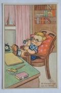 """CARTOLINA ANNI '40 """" BAMBINA - LIBETTA E TROTTOLINO (ILLUSTRATORE """"MARIAPIA"""") """" NON VIAGGIATA - Illustratori & Fotografie"""