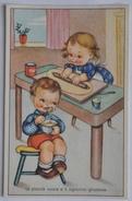"""CARTOLINA ANNI '40 """" BAMBINI - LIBETTA E TROTTOLINO (ILLUSTRATORE """"MARIAPIA"""") """" NON VIAGGIATA - Illustratori & Fotografie"""