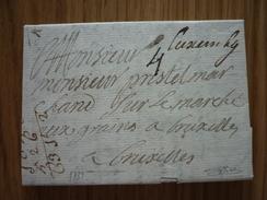 Luxemburg/Luxembourg - Lettre Avec Contenu Datée 1739 De Luxembourg-Ville à Bruxelles (Goebel AL 12c), Signé R. Goebel - Luxembourg