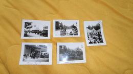LOT DE 5 PHOTOS ANCIENNES DE 1935 - 36 - 37. /  ANOTATION BANNEUX. / A LA SOURCE DE BANNEUX BELGIQUE. - Lieux