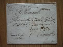 Luxemburg/Luxembourg - Enveloppe Sans Contenu Datée 1748 De Luxembourg-Ville à Bruxelles (Goebel AL 13), Signé R. Goebel - Luxembourg