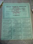 """RARE """"compagnie Parisienne De Représentation"""" Action De 100 F 1936 - Banque & Assurance"""