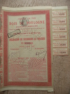 Chemin De Fer Du Bois De Boulogne Dividendes Au Porteur 1897 - Chemin De Fer & Tramway