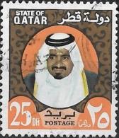 QATAR 1973 Shaikh Khalifa -25d. - Multicoloured FU - Qatar
