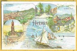 HYERES - Rare Carte Publicitaire Pour Le Malt KNEIPP Diverses Vues Dessinées - Hyeres
