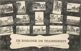 -ref-R483- Gironde - Villandraut - Souvenir De ..- Un Bonjour De ..- Multi Vues - Carte Bon Etat - - France