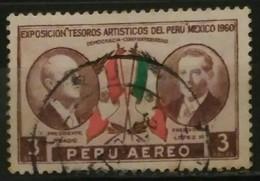 PERÚ 1962 Correo Aéreo. Exposicion De Los Tesoros Culturales Peruanos En México. USADO - USED. - Peru