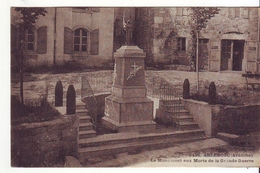Cpa  Arlebosc  Monument Aux Morts - France